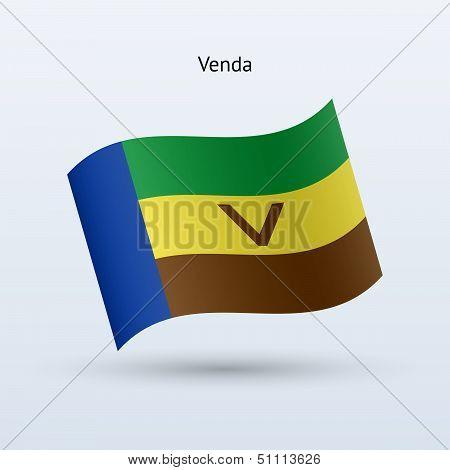 Venda flag waving form. Vector illustration.