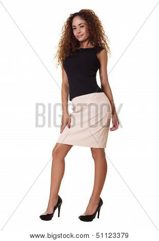 Latino Business Woman Standing.