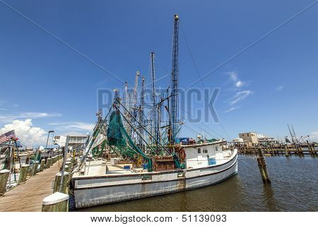 Boats For Shrimps Fishing In Pass Christian