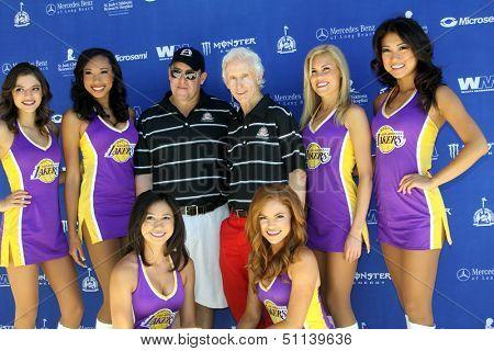 MOOREPARK, CA - SEPT 16:Scotty Medlock & Robby Krieger & Laker Girls arrive at the 6th Annual Scott Medlock & Robby Krieger Golf Invitational & All-Star Concert on September 16, 2013 in Moorepark CA.