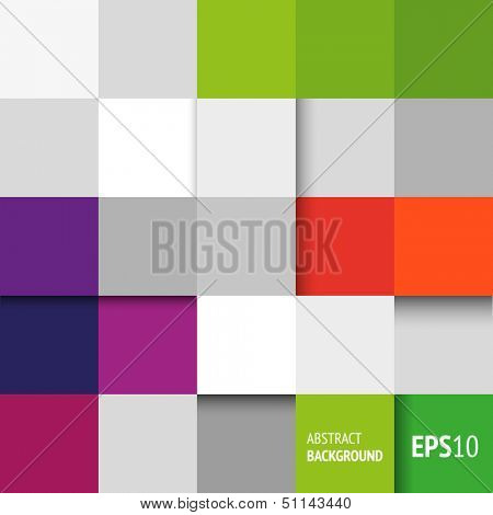 Abstract background with geometric shapes - squares