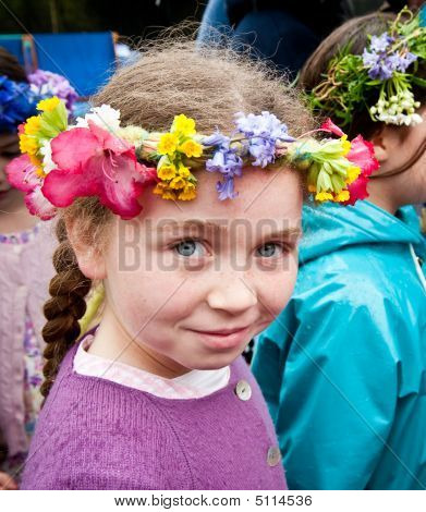 Young Girl At Mayfest