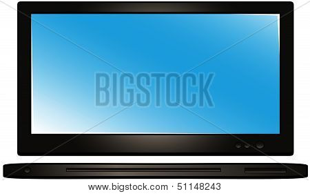 modern tv and dvd player