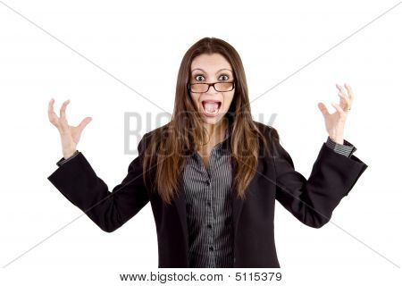 Very Angry Business Woman
