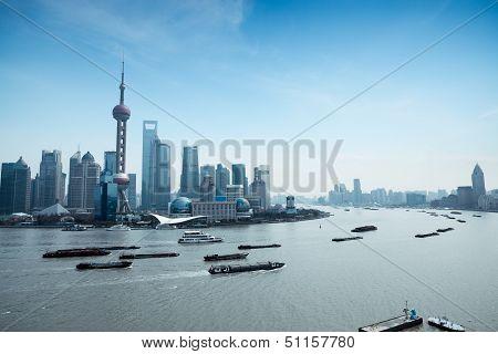 Shanghai Pudong And The Huangpu River