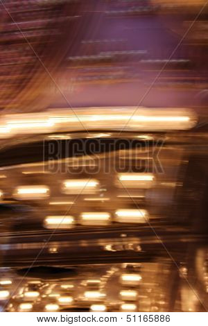 Abstract Blur of Carousel Lights