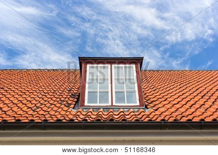 Red Roof With A Dormer
