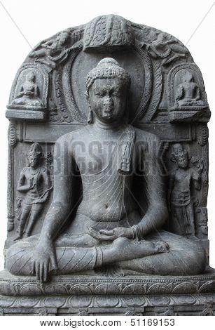 Buddha in Bhumisparsha mudra, from 10th/11th century found in Bihar, India