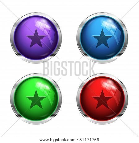 Glossy strat buttons