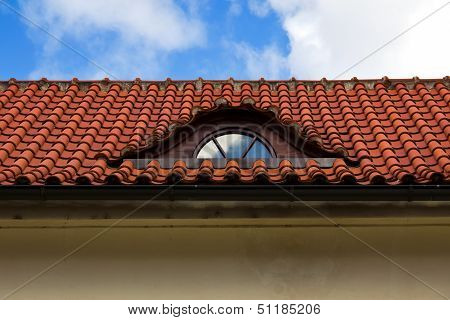 Detail Of Red Tiled Roof