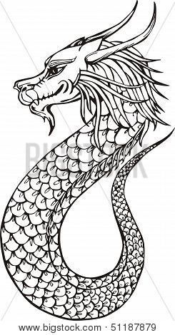 Cute Oriental Dragon
