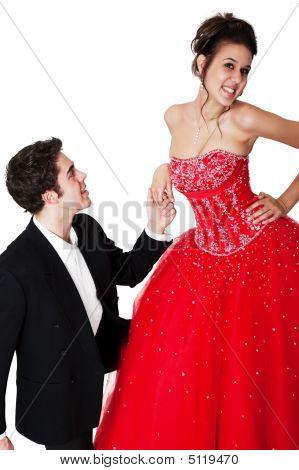 Er ist in der Liebe mit ihr