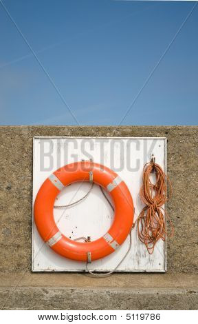 Life Saving Ring For Use At Sea
