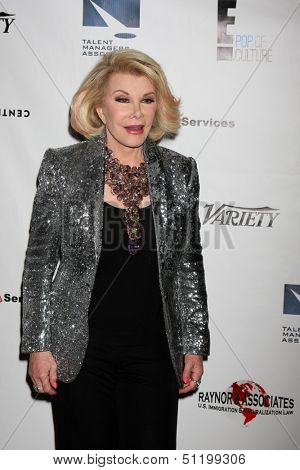 LOS ANGELES - SEP 19:  Joan Rivers at the Heller Awards 2013 at Beverly Hilton Hotel on September 19, 2013 in Beverly Hills, CA