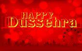illustration of Happy Dussehra background on mela backdrop poster