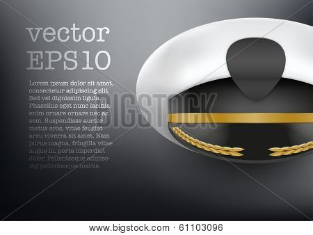 Background of captain peaked cap vector