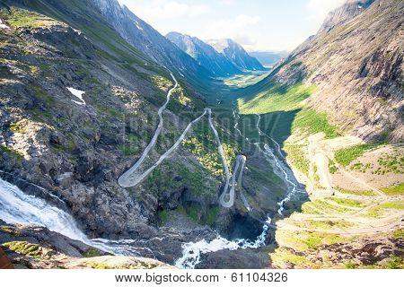 Famous Norwegian Troll's Path