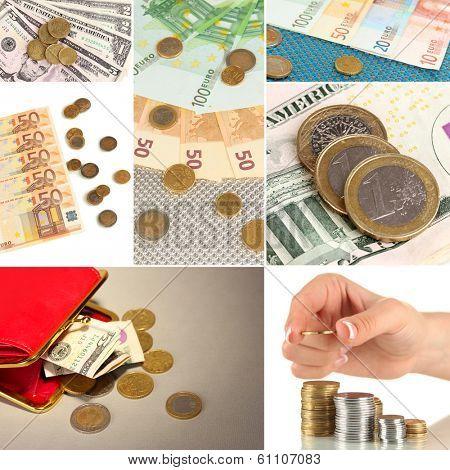 Collage of money