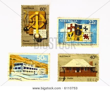 Art stamps from Australia was more than 20 years of Nation series poster