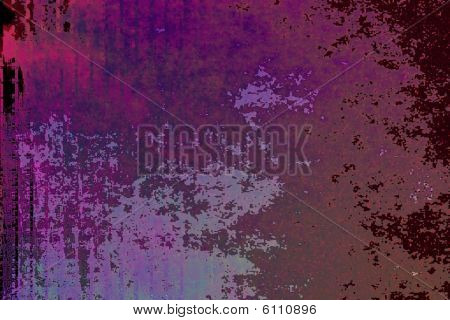 Various shades of purple that have a pixelated and stained look poster
