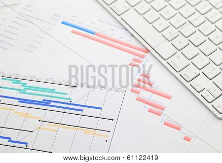 Gantt chart and keyboard