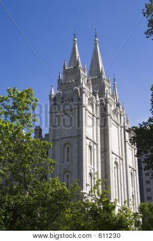 Salt Lake City Utah Mormon Church of Jesus Christ of Latter-day Saints temple poster