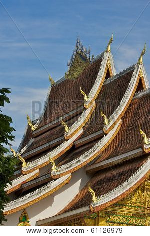 The Multi-tiered Roof of the Royal Temple in Luang Prabang