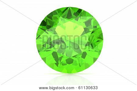 Peridot On White Background (high Resolution 3D Image)