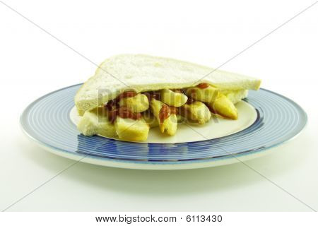 Frys In Bread On A Plate