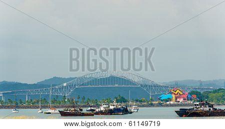 Bridge Of The Americas In Panama City.