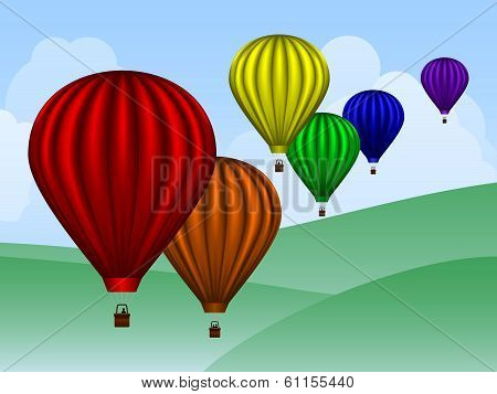 Balloons Over Hills