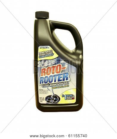 Bottle Of Roto-rooter Drain Cleaner