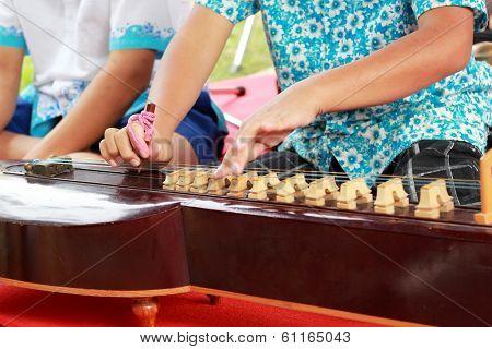 Children Playing Dulcimer Thailand
