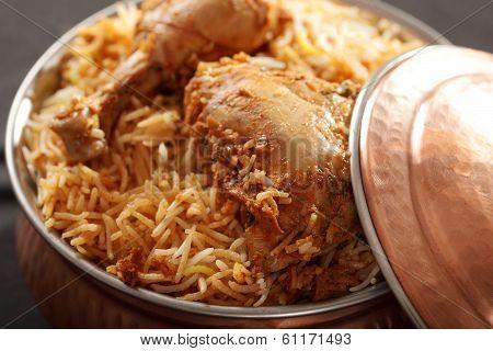 Hyderabadi Biryani - A Popular Chicken Or Mutton Based Biryani From Hyderabad