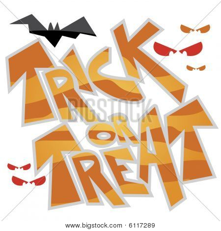 Vector Halloween Trick or Treat Graphic Clipart