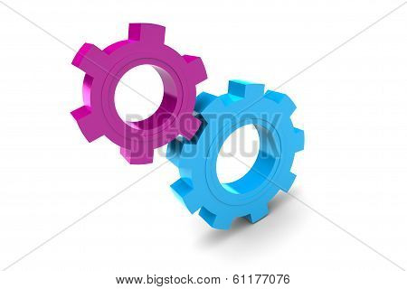Two Plastic Gears