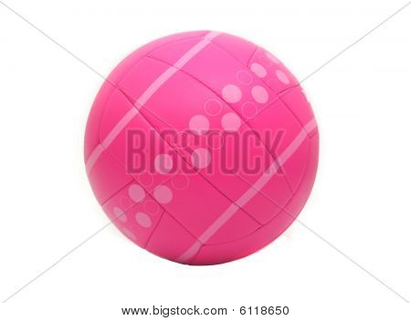 Isolated Pink Volleyball