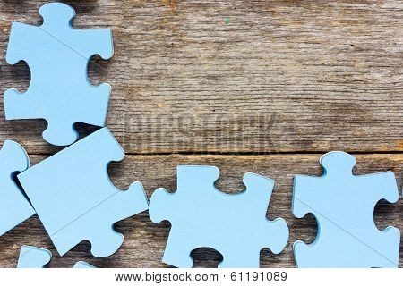 Puzzle On Wooden Boards