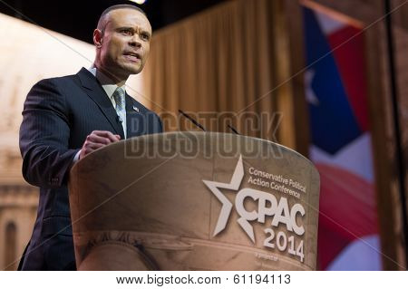 NATIONAL HARBOR, MD - MARCH 6, 2014: Congressional candidate Dan Bongino speaks at the Conservative Political Action Conference (CPAC).