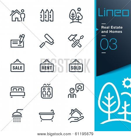 Real Estate and Homes outline icons