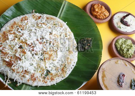 Paneer Dosa - A Pancake Made With Cottage Cheese