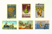 Art stamps from Thailand was more than 20 years of Art series poster