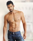 Muscular handsome sexy guy poster