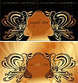 Two Original Vintage Cover Backgrounds. Vector Illustration. poster