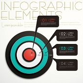 modern vector abstract target option infographic elements poster