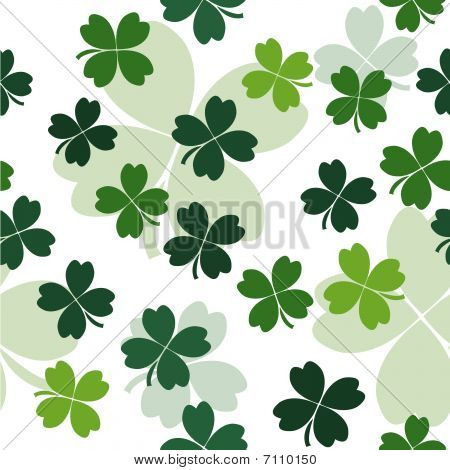Seamless pattern with clover leaves for st. Patrick's day