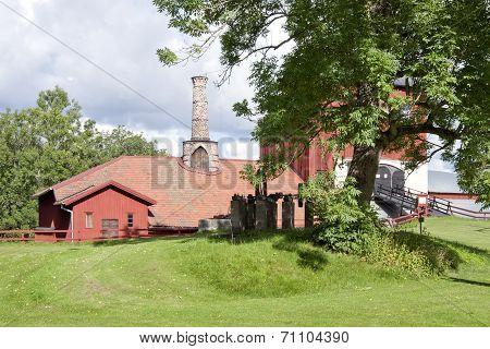Pershyttan, old smelter, smeltery in Bergslagen. Iron foundry.
