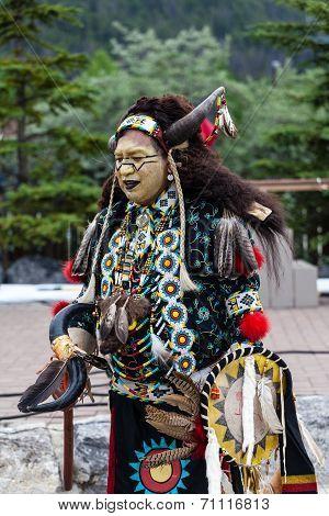 Traditional Native Blackfoot Chief