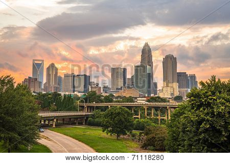 Charlotte, North Carolina Sunset