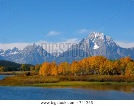 Grand Tetons In Fall Color